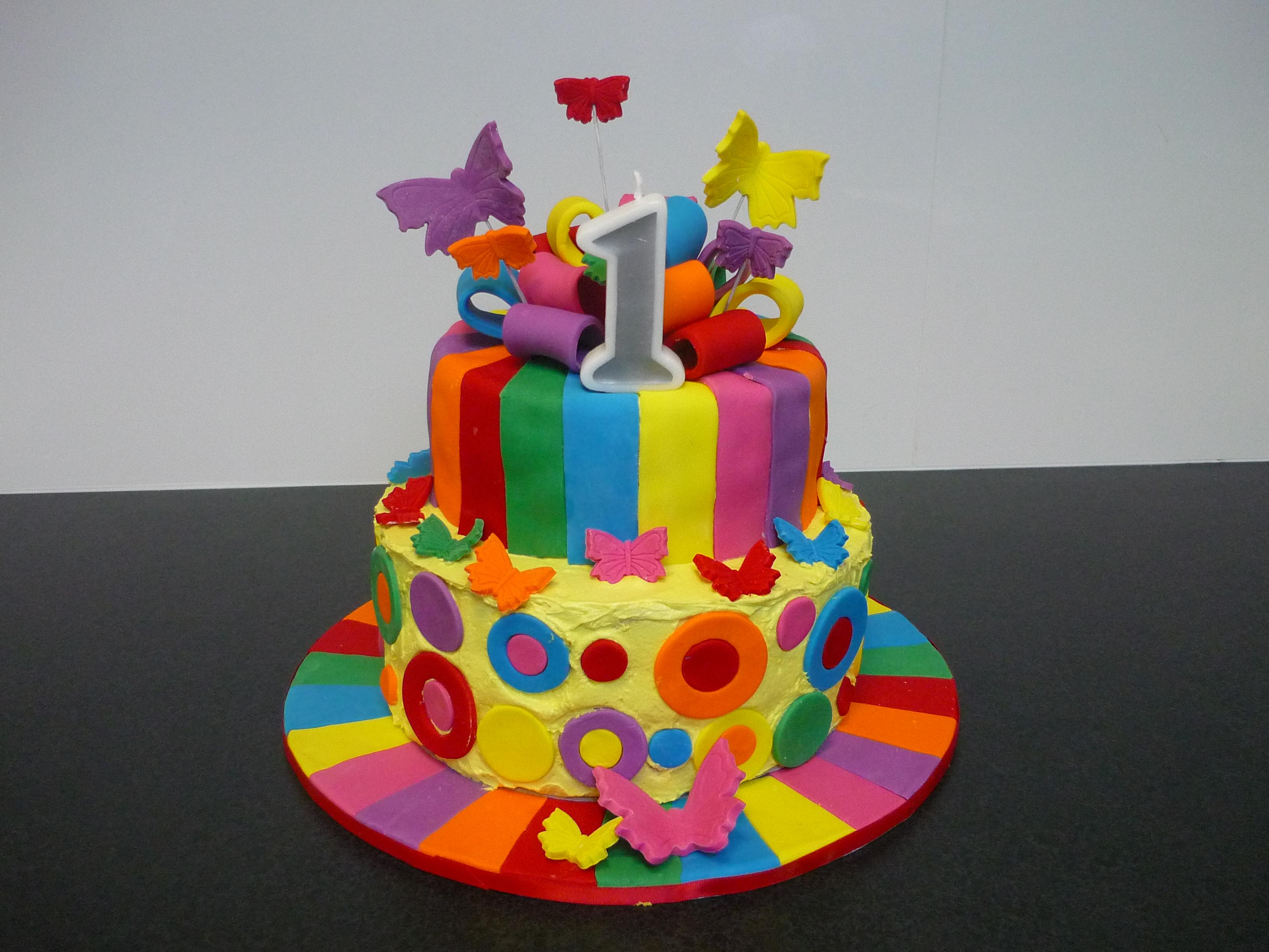 Happy Birthday Rainbow Cake Brithday