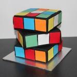 Rubix Cube Cake