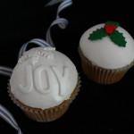 Domed Joy Christmas Cupcake