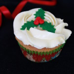 Holly Christmas Cupcakes