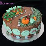 Garden and Bike Cake