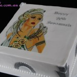 Art Deco Lady Cake