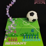 Soccer and Butterfly Cake