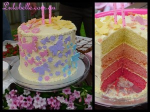 Ombre Butterfly Cake