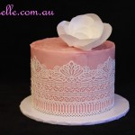 Lace and Flower cake
