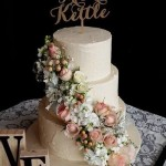Rustic Ivory Wedding Cake