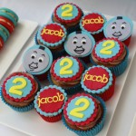 Thomas the Tank Dessert Table Cupcakes