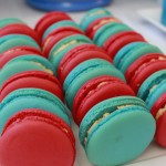 Thomas the Tank Dessert Table Macarons
